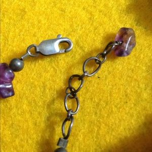 Jewelry - Amethyst Natural Stone Choker with Silver Clasp